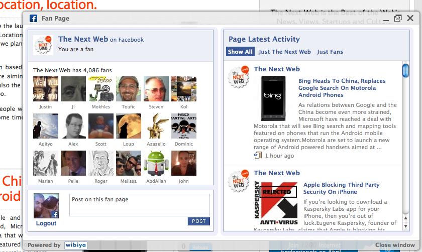 facebook website entegrasyonu