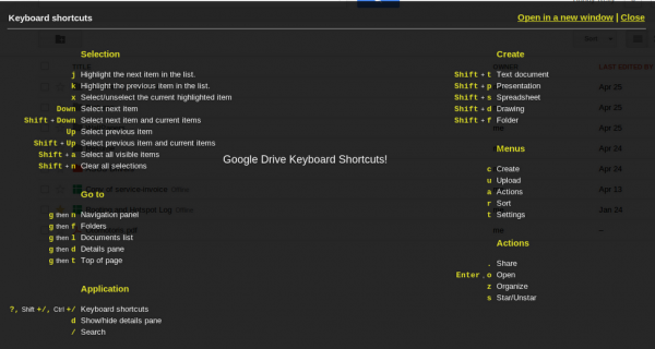 Google Drive Shortcuts