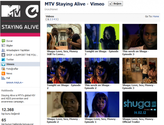 vimeo tab