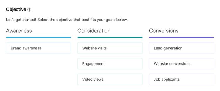 Yeni bir Linkedln Kampanyası Oluşturun