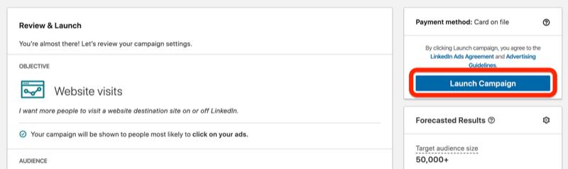 LinkedIn Kampanyanızı Başlatın