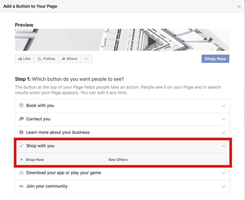 Facebook İşletme Sayfanızda Şimdi Alışveriş Yap Düğmesi Oluşturun