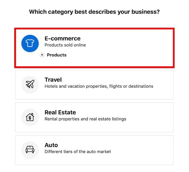 Kataloğunuz için E-Ticaret'i işaretleyin